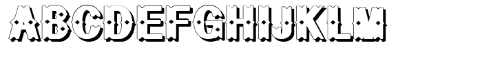 Geodec Bruce Ornamented Shadow Font UPPERCASE