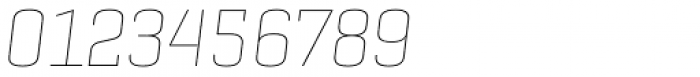 Geogrotesque Slab Thin Italic Font OTHER CHARS