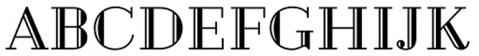 Geotica Four Engraved Font UPPERCASE
