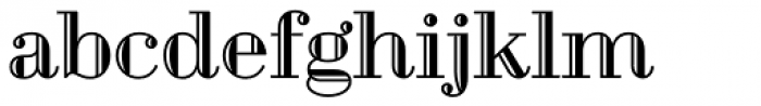 Geotica Four Engraved Font LOWERCASE