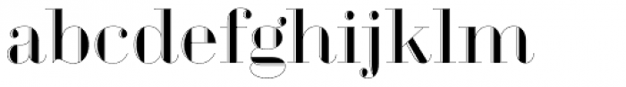 Geotica One Engraved Font LOWERCASE