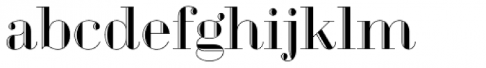 Geotica Two Engraved Font LOWERCASE