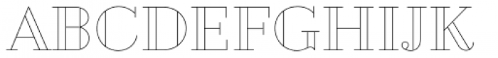 Geotica Two Open Font UPPERCASE
