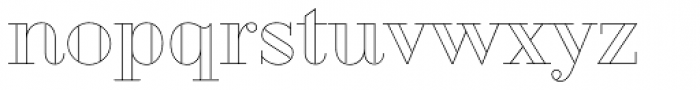 Geotica Two Open Font LOWERCASE