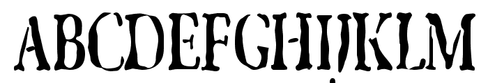 GhostTownCondensed Font UPPERCASE