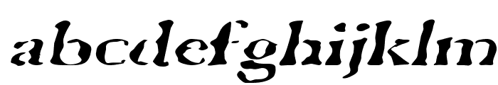 GhostTownExtended Italic Font LOWERCASE