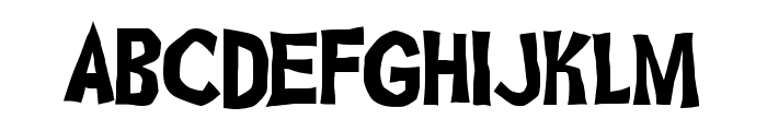 Ghoulish Fright AOE Font UPPERCASE