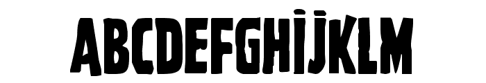 Ghoulish Intent Caps Shift Font UPPERCASE