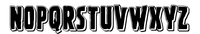 Ghoulish Intent Punch Font UPPERCASE