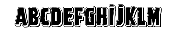 Ghoulish Intent Punch Font LOWERCASE