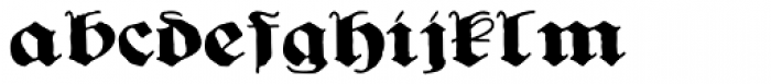 Ghost Gothic Font LOWERCASE