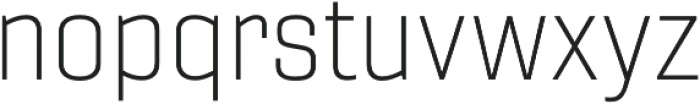 Gineso Ext Thin otf (100) Font LOWERCASE
