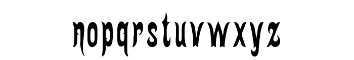 Gingerbread Victorian Font LOWERCASE