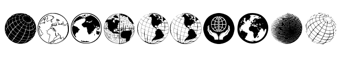 Globe Icons Font OTHER CHARS