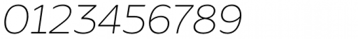 Global Thin Italic Font OTHER CHARS