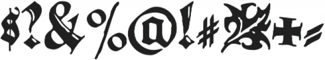 Gothicus Roman Regular otf (400) Font OTHER CHARS