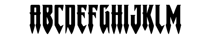Gotharctica Extra-Expanded Font UPPERCASE