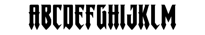 Gotharctica Extra-Expanded Font LOWERCASE