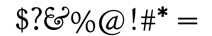 Goudy Bookletter 1911 Font OTHER CHARS