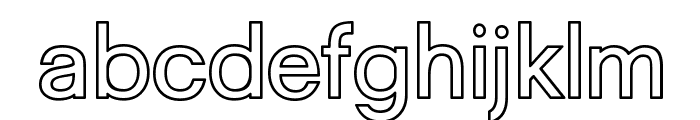Goulong Bold Outline Font LOWERCASE