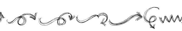 go around the books - arrows Font LOWERCASE