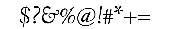 Fanwood Text italic Font OTHER CHARS