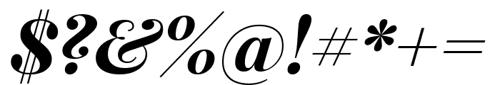 Playfair Display 700italic Font OTHER CHARS