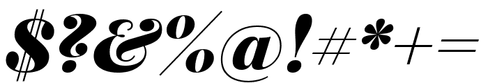 Playfair Display 900italic Font OTHER CHARS