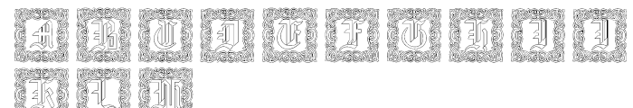 Gothic 16 CG Decorative Outline Font UPPERCASE