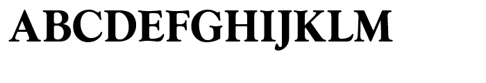 Goudy Series Bold Font UPPERCASE