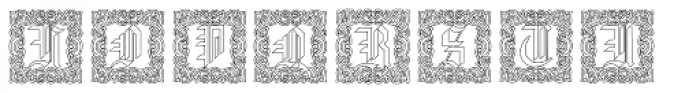 Gothic16 CGDecorative Outline Font UPPERCASE