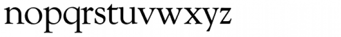 Goudy Old Style SH Roman Font LOWERCASE