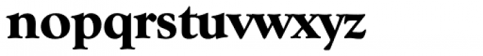 Goudy Serial ExtraBold Font LOWERCASE