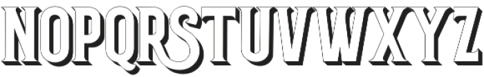 Grantmouth Shadow otf (400) Font LOWERCASE