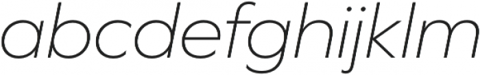 Graphie ExtraLight Italic otf (200) Font LOWERCASE