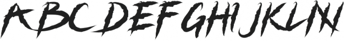 Grizzly Attack otf (400) Font UPPERCASE