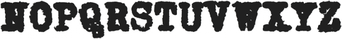 Grungy Old Typewriter Fat ttf (800) Font UPPERCASE
