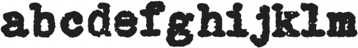 Grungy Old Typewriter Fat ttf (800) Font LOWERCASE