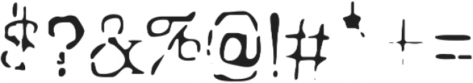 Grungy Old Typewriter Ghost ttf (400) Font OTHER CHARS