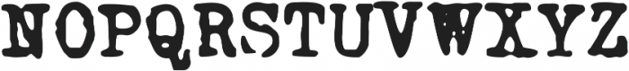 Grungy Old Typewriter Smooth ttf (400) Font UPPERCASE