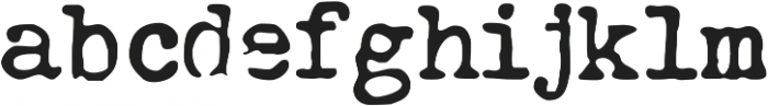 Grungy Old Typewriter Smooth ttf (400) Font LOWERCASE