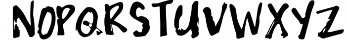 Grungy Font UPPERCASE
