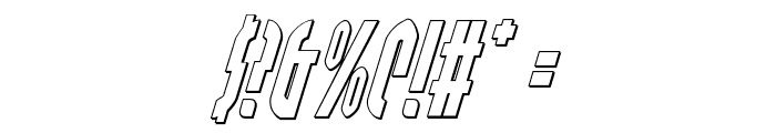 Grendel's Mother Shadow Italic Font OTHER CHARS