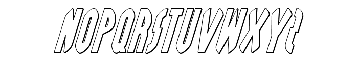 Grendel's Mother Shadow Italic Font UPPERCASE