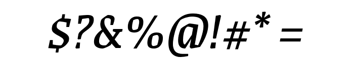 Grenze Italic Font OTHER CHARS