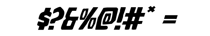 Grim Ghost Expanded Italic Font OTHER CHARS