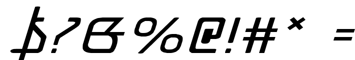 Grimlord Expanded Italic Font OTHER CHARS