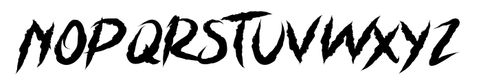 Grizzly Attack Font LOWERCASE