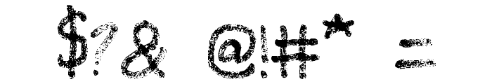 Grunge Handwriting Font OTHER CHARS
