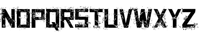 Grungy Font LOWERCASE